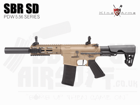 King Arms PDW 5.56 SBR SD - Dark Earth