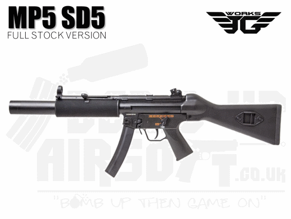 JG Works MP5 SD5 Airsoft rifle