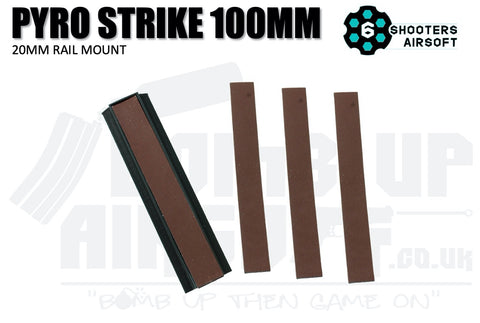 6 Shooters Pyro Strike - 20mm Rail Mount - 100mm