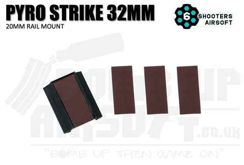 6 Shooters Pyro Strike - 20mm Rail Mount - 32mm