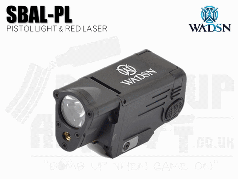 WADSN SBAL-PL Pistol Light and Laser - Black