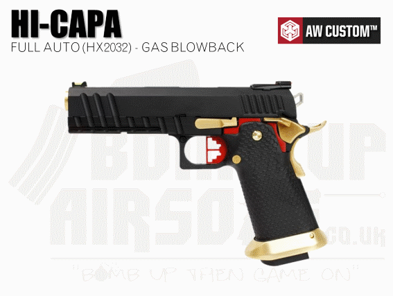Armorer Works Custom Hi-Capa Black Slide/Gold Barrel - Full Auto (HX2032)