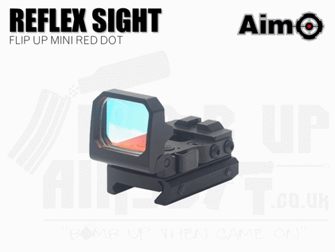 Aim-O Flip-Up Mini Red Dot Reflex Sight - Black
