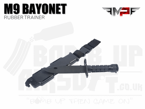 MP M9 Training Bayonet with Sheath - Black