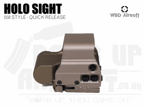 WBD Airsoft Holo Sight 558 Style - Tan