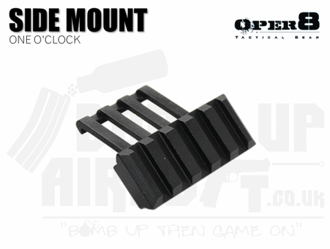 Oper8 One O'Clock Style Side Mount - Black
