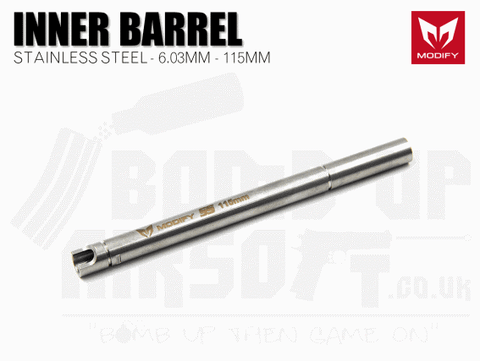 Modify Stainless Steel 6.03mm Precision Barrel - 115mm