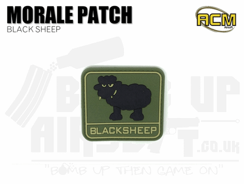 Black Sheep - Velcro Patch - Green