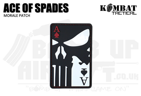 Kombat UK Ace of Spades Rubber Patch