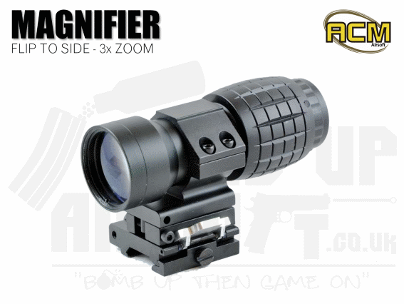 ACM 3x Magnifier with flip to side mount