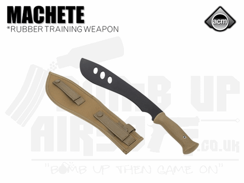 ACM Rubber Flexible Machete Tan