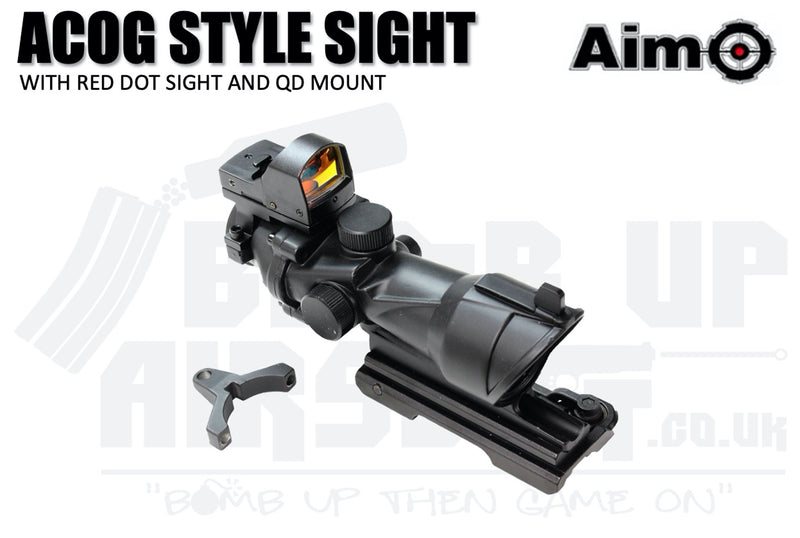 Aim-O ACOG Style 4x32 Sight With DR Sight and QD Mount
