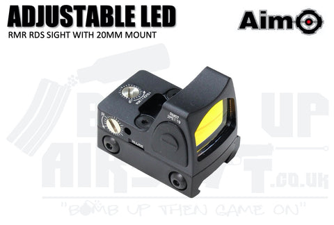Aim-O Adjustable LED RMR Red Dot Sight