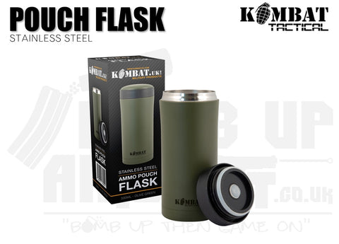 Kombat UK Ammo Pouch Flask - 330ml - OD Green