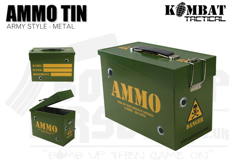 Kombat UK Army Style Ammo Tin