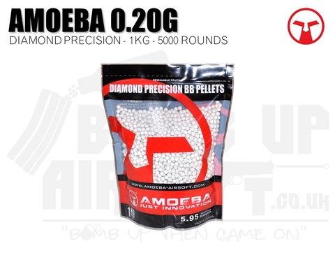 Ares Amoeba Diamond Precision 0.20g 1Kg BBs (5000 Rounds)
