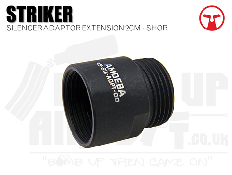 Ares Amoeba Striker Silencer Adaptor Extension 2cm - Short