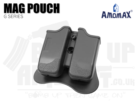 AmoMax G Series Double Mag Holster - Black