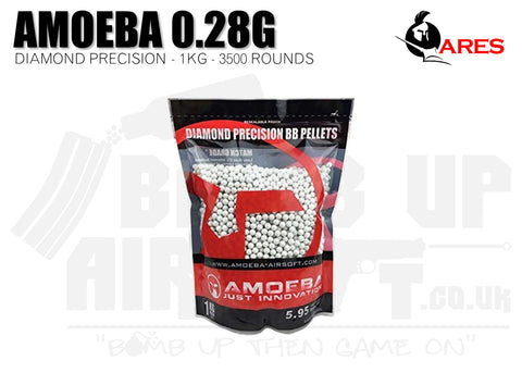Ares Amoeba Diamond Precision 0.28g 1Kg BBs (3500 Rounds)