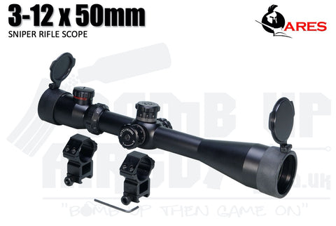 Ares 3-12 x 50mm Sniper Scope SC-007
