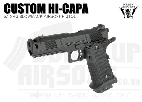 Army Armament Custom Series Hi-Capa 5.1 GBB Airsoft Pistol