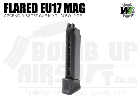 WE Airsoft & Ascend Airsoft G17 Mag - Flared - 24 Rounds