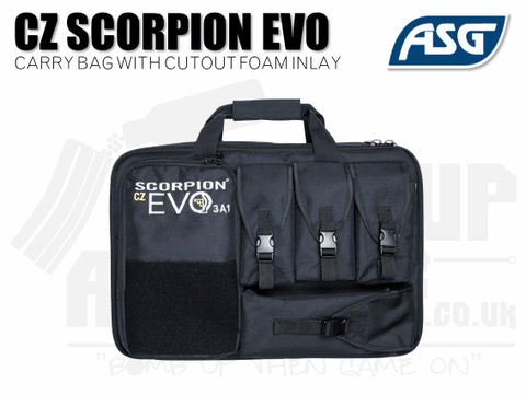 ASG Scorpion Evo Bag With Cutout Foam