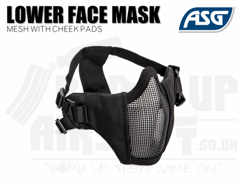 ASG Strike Systems Airsoft Mesh Mask With Cheek Pads - Black