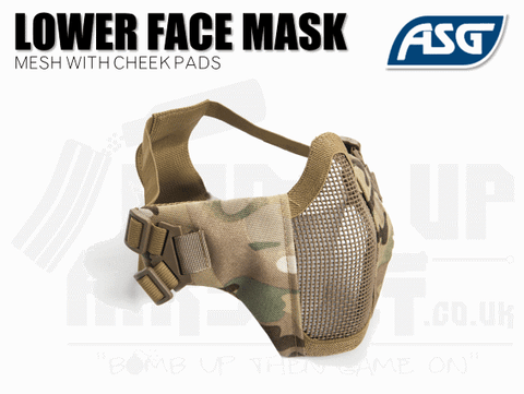 ASG Strike Systems Airsoft Mesh Mask With Cheek Pads - MTP