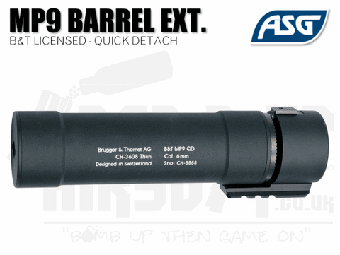 ASG B&T MP9 QD Barrel Extension Tube