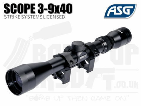 ASG Strike Systems 3-9 x 40 Rifle Scope