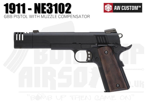 Armorer Works Custom 1911 With Muzzle Compensator - GBB - AW-NE3102