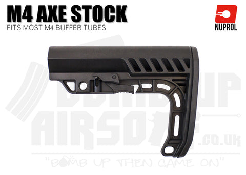 Nuprol M4 AXE Stock - Black