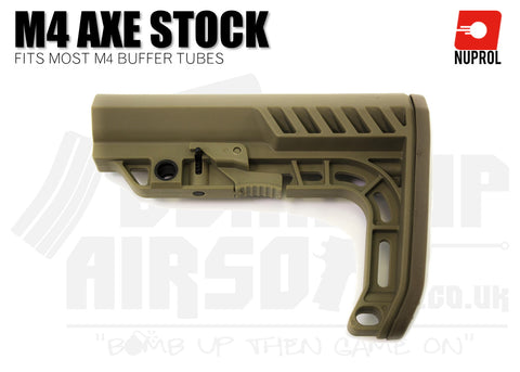 Nuprol M4 AXE Stock - Tan