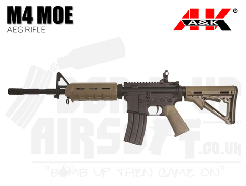 A&K MOE M4 AEG Airsoft Rifle - Tan