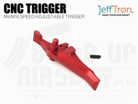 Jefftron CNC M4 / M16 Speed Trigger - Red