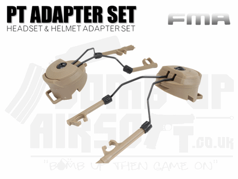 FMA PT Peltor Headset and Helmet Rail Adaptor Set - Tan