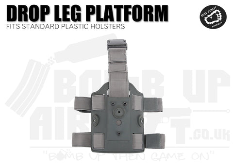 Big Foot Drop Leg Holster Platform Mount fits Cytac/Nuprol - Grey