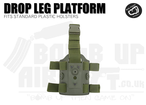 Big Foot Drop Leg Holster Platform Mount fits Cytac/Nuprol - OD Green