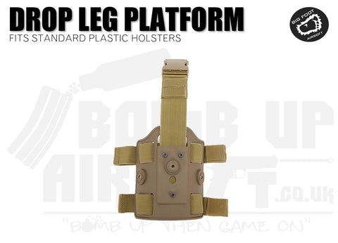Big Foot Drop Leg Holster Platform Mount fits Cytac/Nuprol - Tan