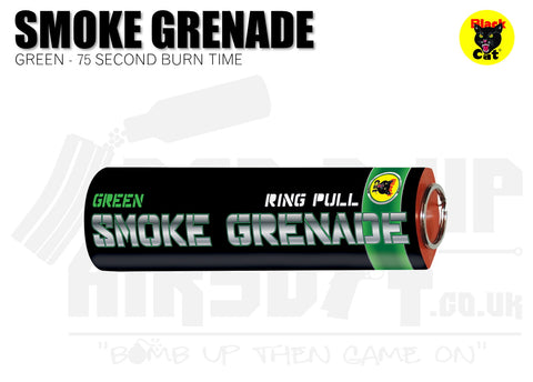 Black Cat Ring Pull Smoke Grenade - Green