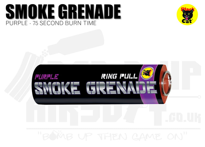 Black Cat Ring Pull Smoke Grenade - Purple