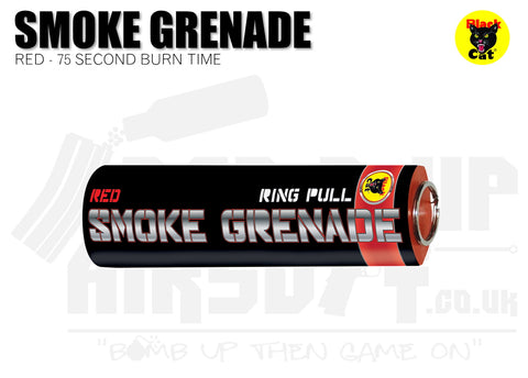 Black Cat Ring Pull Smoke Grenade - Red