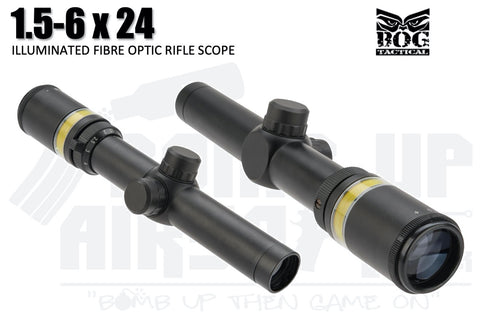 Black Owl Gear 1.5-6x24 Optic Fibre Scope
