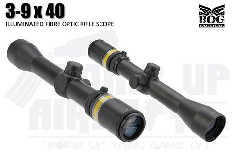 Black Owl Gear 3-9x40 Optic Fibre Scope