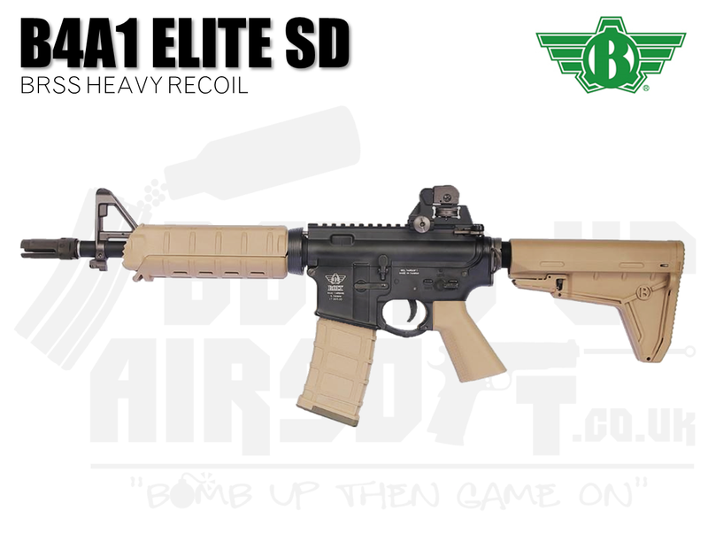 Bolt B4a1 Elite Sd Brss Heavy Recoil Airsoft Rifle Tan Bomb Up Airsoft