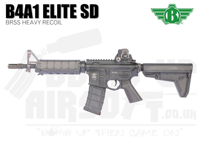 Bolt B4A1 Elite SD BRSS Heavy Recoil Airsoft Rifle - Black