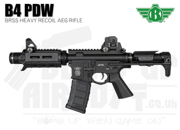Bolt B4 PDW BRSS Heavy Recoil Black Airsoft Rifle