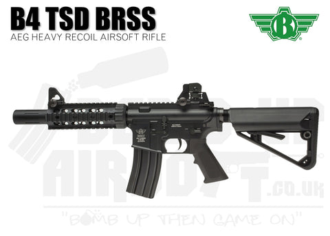Bolt B4 TSD BRSS Heavy Recoil Black Airsoft Rifle