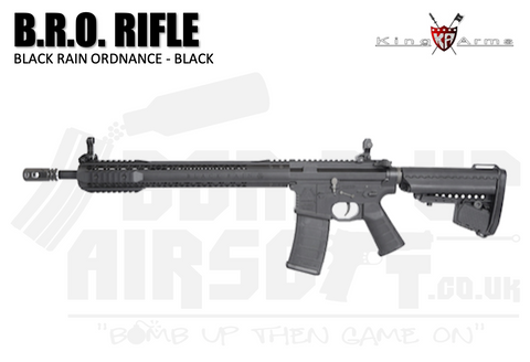 King Arms B.R.O. Airsoft Rifle - Black